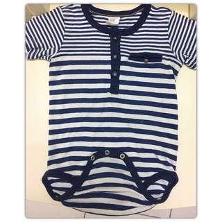 H&m baby stripe romper 24 mth (PL)