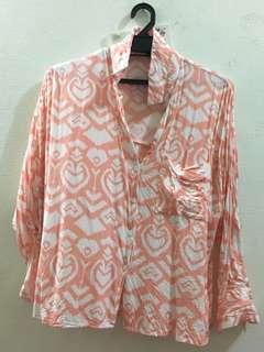 Peachy crop shirt