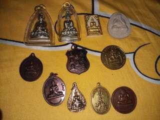 佛牌 11件聖物 藥師佛 財佛 佛祖 必打 成功佛 等 全新 不散賣