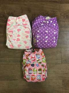 Cloth Diapers - Assorted Prints (Set of 3)