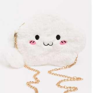 (INSTOCK) Kawaii Fluffy Cloud Sling Bag