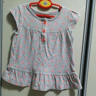 BABY CLOTHES CARTER'S BLOUSE GIRLFOR 18-24MTHS.