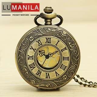 Steampunk Style Pocket Watch Roman Numeral Watch