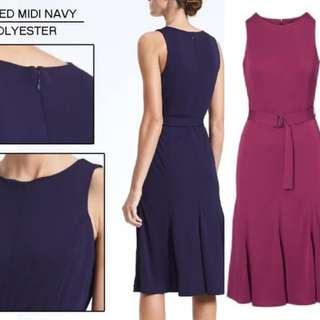 Branded Ban Paneled Midi dress