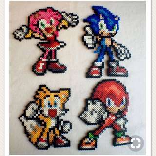 Sonic Hama Bead Design