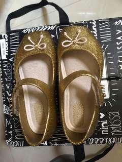 Mini Melissa Ballet Golden Glitter S6/S7