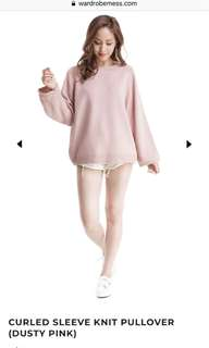 Dusty pink knit pullover
