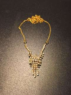 Peranakan antique gold and diamond necklace