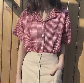 summer plaited collar top