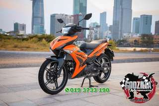 COVERSET Y15ZR EXCITER RC 150 ORANGE OREN 2018