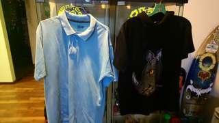 Color shit black size m bue size L $10 each
