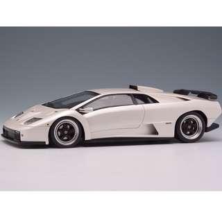 全新Make Up 1:43 Lamborghini Diablo GT 1999 Pearl White EM321B