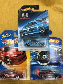 Hotwheels Subaru+Civic Lot