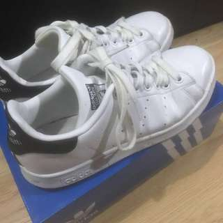Adidas Stan Smith Shoes Navy Blue - Size 8 Wonens
