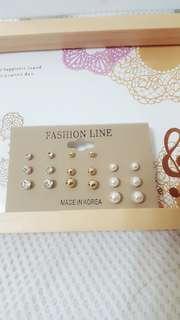 🚚 韓國多款組合水鑽珍珠時尚耳環