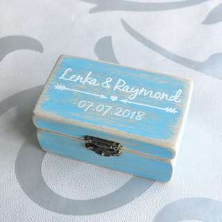 Ring holder / Ring Box for wedding / ROM