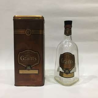 Grant's Deluxe Scotch Whisky Empty Bottle