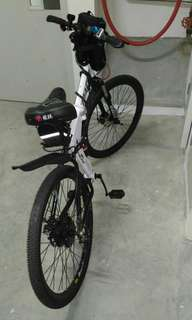 26inch Folding MTB converted to Biscooter