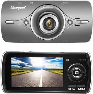 "Xuanpad Dash Cam Full HD 1080P in Car Camera Blackbox DVR Dashboard with 2.7"" LCD, Car Video Recorder, Built in G-Sensor with Automatic Loop Recording, WDR, Motion Detection, Parking Monitoring"