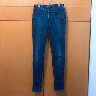 Levi's Skinny Legging Jegging Jeans 深藍洗水修腳彈性牛仔褲