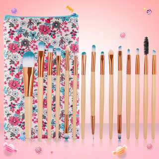 Beautiful 15Pcs Peachy Makeup Cosmetic Brush Set (Sale!!)