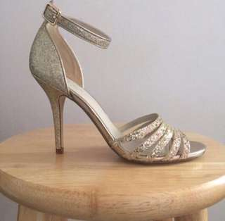 Gold prom heels [Reduced]