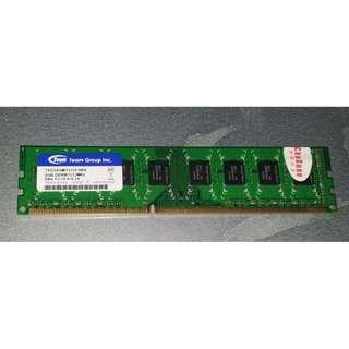 🚚 十銓 Team 4GB DDR3 -1333 雙面顆粒 、終身保固 、僅上架測試過的庫存備品、790為單支價