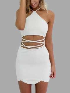 Sexy white party dress