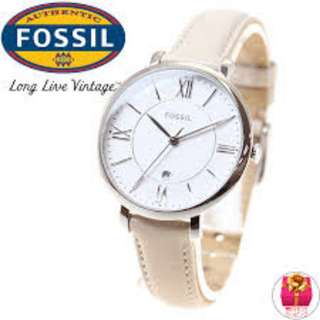 Fossil JACQUELINE BEIGE LEATHER WATCH ES3793
