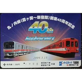 (F03) 日本 火車 地鐵 車票 MTR TRAIN TICKET, $12