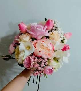 結婚花球 結婚花束 花球訂造 中式花球 新娘花球 絲花花球