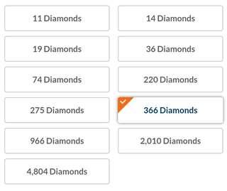 Jual Diamond 366 Rp.105.000 Mobile Legends
