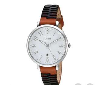 Fossil Watch Jacqueline Multicolored Stainless-Steel Case Leather Strap Ladies ES4208