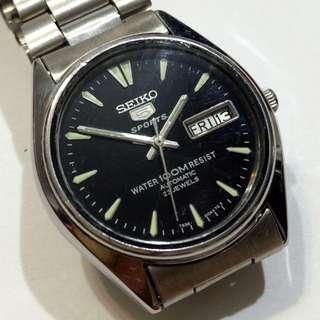 SEIKO 5 SPORT Automatic Watch Water 100M RESIST bezel 36mm 23Jewels
