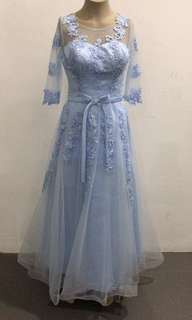 Lacy Blue Gown