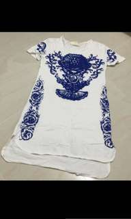 Porcelain shirt dress