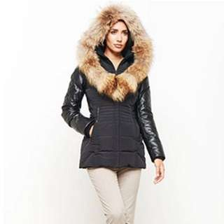 Danier Leather Real Fox Fur Leather Jacket