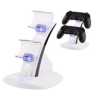 PS4 LED Dual Controller Holder USB Fast Charger Dock Station Stand