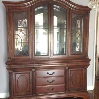 Gorgeous dining set table and chairs with China cabinet