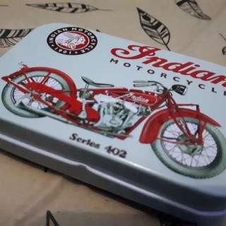 Tin Box Kaleng Vintage Indian Motorcycle