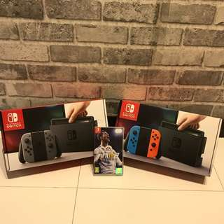 [BNIB] Nintendo Switch + FIFA18 + Dust Proof Kit Bundle