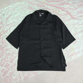 前簡約後吊飾造型中性短袖襯衫