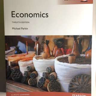 Economics by Michael Parkin 12th Edition Pearson (Global Edition)