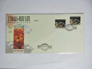 Singapore FDC No-value indicator stamps