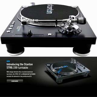 Stanton STR8-150 Heavy Duty 18 Kg Professional Digital Direct-Drive Skip-Proof Straight Arm Turntable (UP $1,150.00) WAREHOUSE PRICE $699