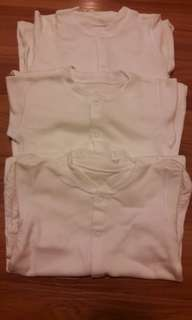 9-12m Mothercare Sleepsuits set of 3