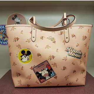 Coach x Disney Minnie Mouse Reversible City Tote Floral Multi F29359