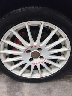 Rare deal... APP 4 Pot Brake Set & 17 inch Original OZ Racing Rims