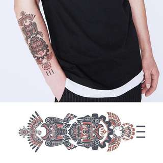 BN Instock Temporary Tattoo Temp Tattoos Ancient Maori Indigenous Mythology Traditional