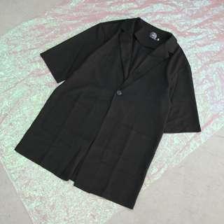 長版中性西裝外套